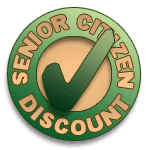 Senior Citizen Discount Badge