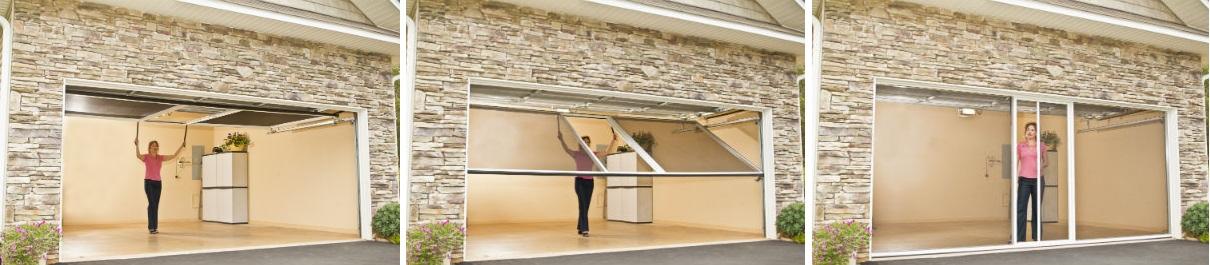 retractable garage door screensPrecision Garage Doors  Retractable Screens  Garage Door Screens
