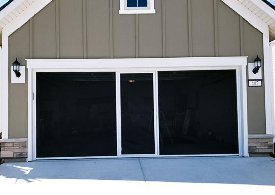 Precision Garage Doors Retractable Screens Garage Door Screens