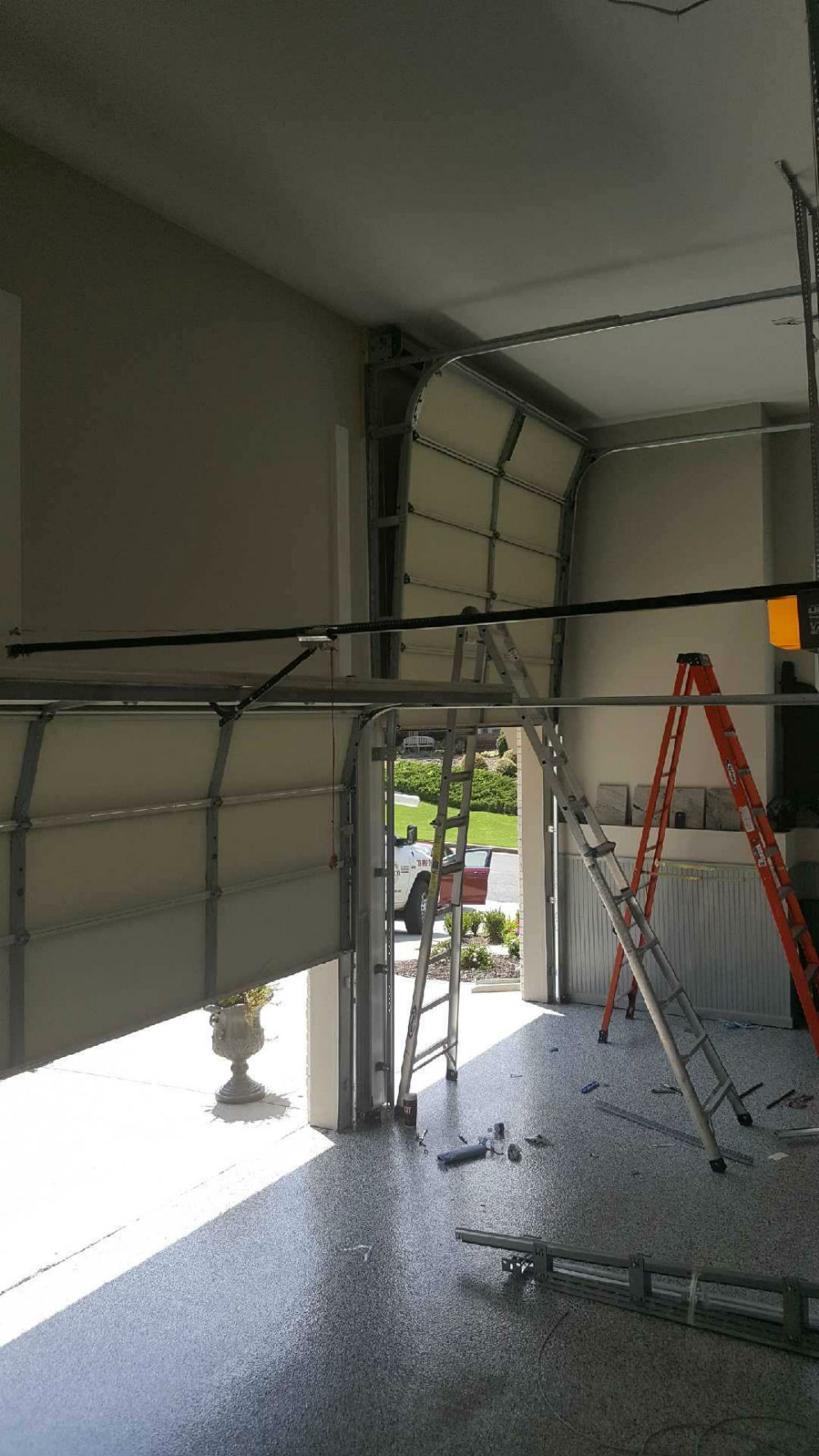 High Lift Garage Door Conversion